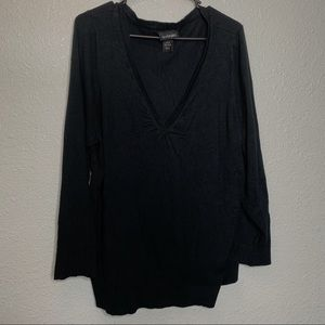 Lane Bryant Black V neck sweater